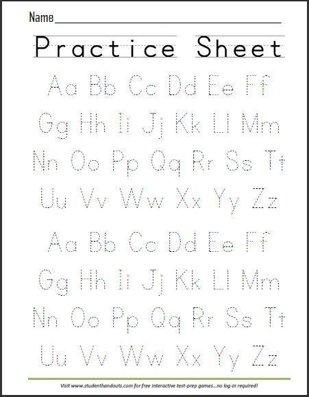 free printable handwriting abc worksheet alphabet