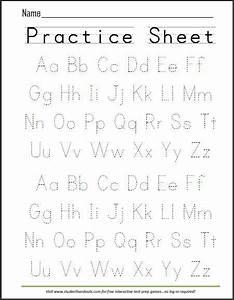 free printable handwriting abc worksheet free printables With handwriting tracing letters