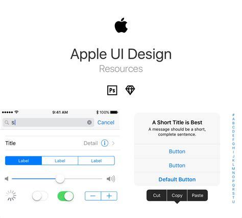apple ui design resources  psd  sketch freebiesui