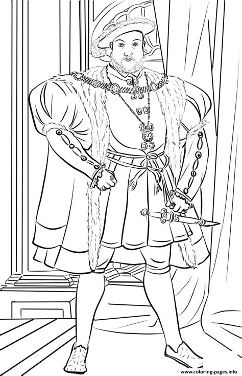 henry viii united kingdom coloring pages printable