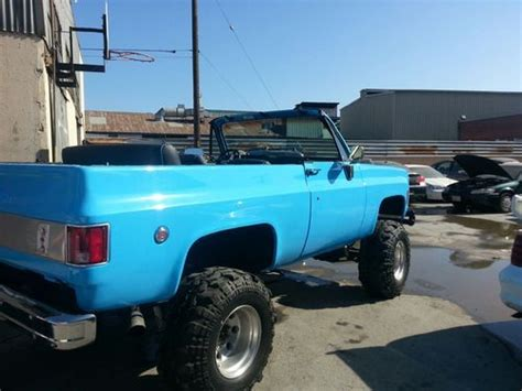 find   chevy blazer  fully convertible  paint