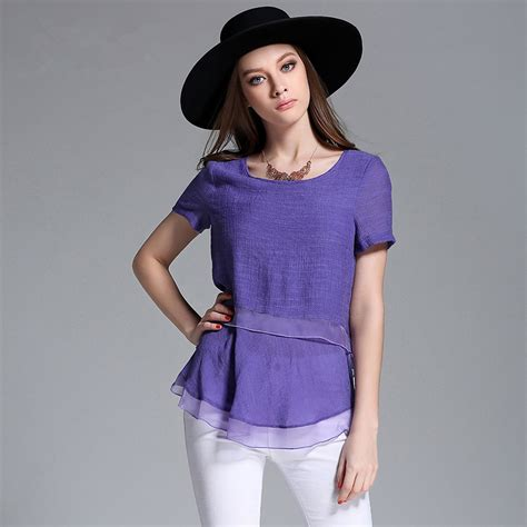 purple blouse womens 2016 39 s fashion blouses sleeve chiffon
