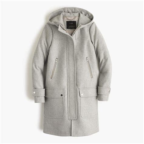 wool melton duffle coat jcrew