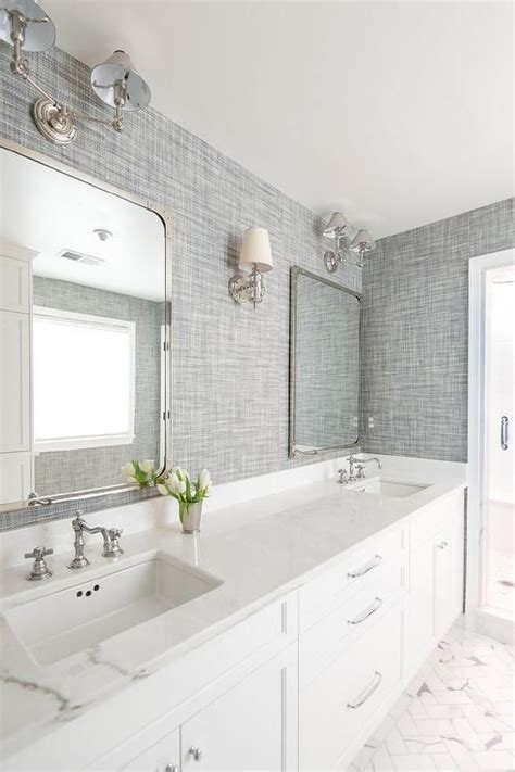 Bathroom Ideas Grey And White by Beautiful White And Gray Bathroom Is Clad In Gray Textured