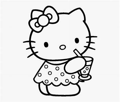 Kitty Coloring Hello Pages Pngitem