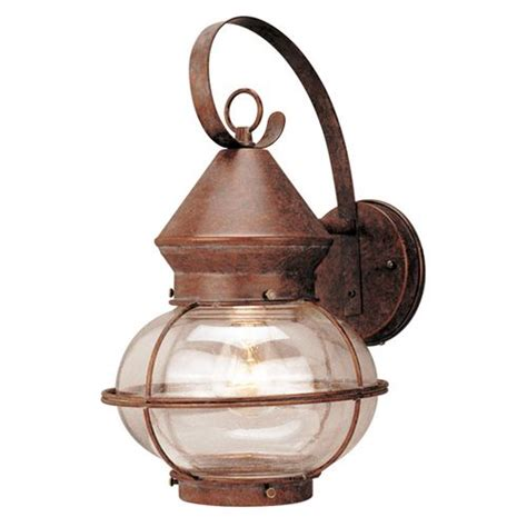 portfolio 1 light rustic bronze outdoor wall lantern item