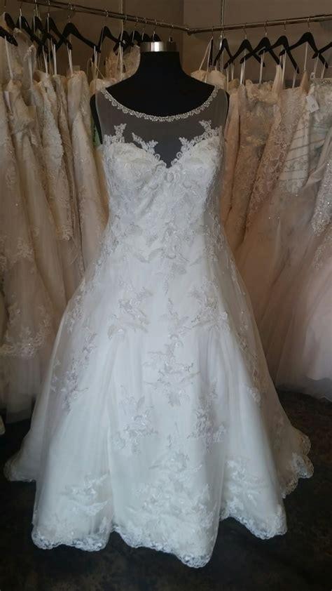 illusion neckline  size aline wedding gown