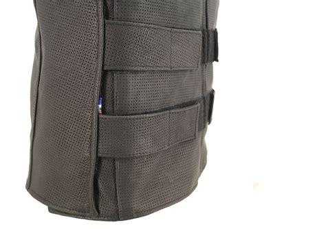 Mens Black Full Perforated Zippered Bulletproof Style