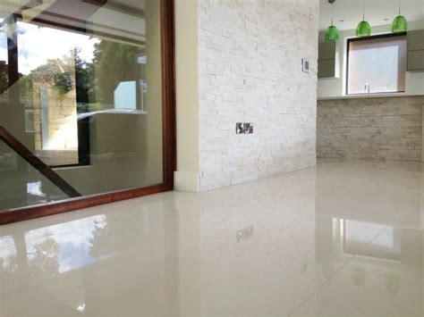 polished kitchen floor tiles family kitchen diner in branksome splitstone wall tiles 4304