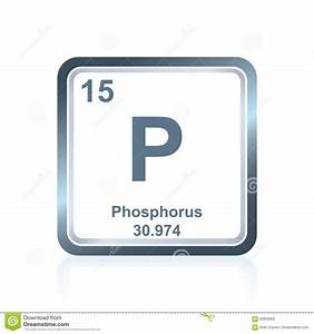 Chemical Element Phosphorus From Periodic Table Stock ...