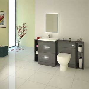 Patello, 1600, Fitted, Bathroom, Furniture, Grey, Buy, Online, At