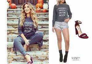 Jessie James Decker`s Baddest Witch Halloween Sweatshirt ...
