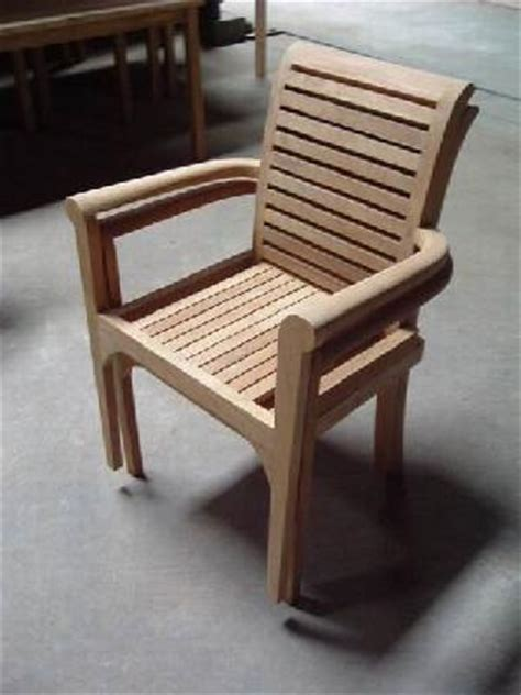 europe stacking chair arm rest teak teka outdoor garden