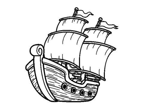 Velas De Barcos Para Colorear by Dibujo De Barco De Vela Para Colorear Dibujos Net