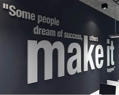 Office Wall Happen 3d Decor Motivational Typography