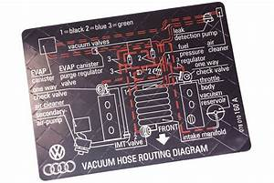 New Vacuum Hose Routing Diagram Sticker Vw    Audi V6