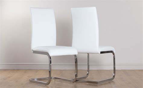 perth white leather dining room chairs ebay
