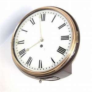 Early, Fusee, English, Dial, Clock, With, Wooden, Dial, For, Sale