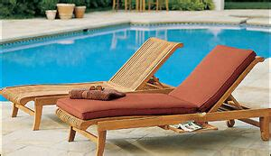 giva grade teak outdoor garden patio steamer chaise sun