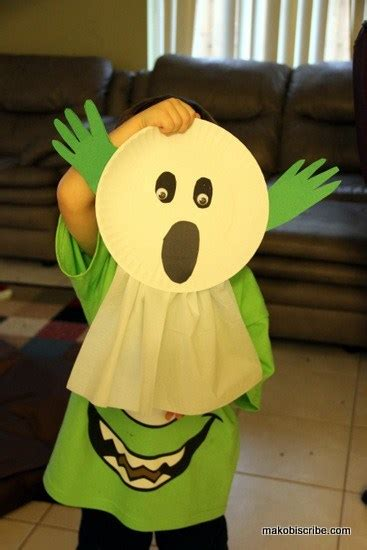 paper plate ghost craft for preschoolers 638 | IMG 4498