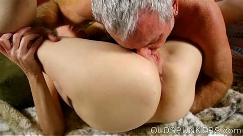 Super Horny Old Spunker Sucks Cock While Fucking Her