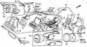 Honda Motorcycle 1984 Oem Parts Diagram For Instruments