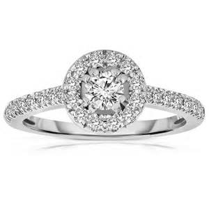 white gold engagement rings 500 half carat cut halo engagement ring in white gold jeenjewels