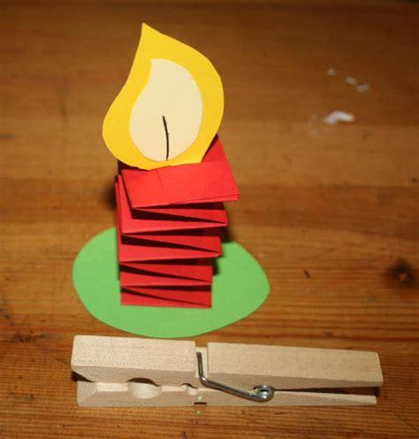 lavoretti per natale candelina con molletta lapappadolce 491 | candelina con molletta 141