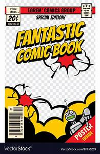comic book template powerpoint - comic book cover template royalty free vector image