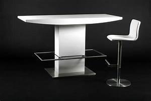 Table Cuisine Blanche : table haute bar ~ Teatrodelosmanantiales.com Idées de Décoration