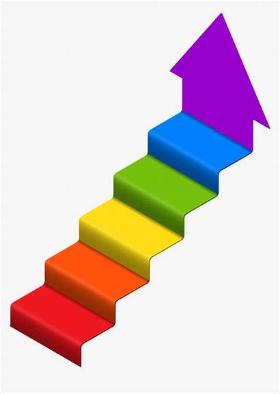 Stairs Clipart Clip Arrow Success Transparent Stair