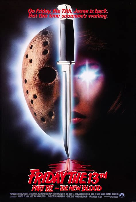 poster for friday the 13th part vii the new blood 1988