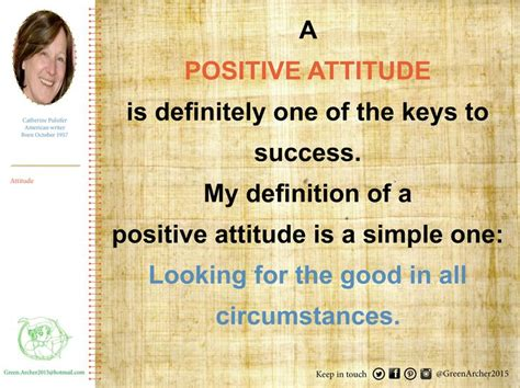 simple definitions and positive attitude on