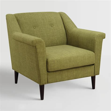 Green Armchair by Green Navarre Upholstered Armchair World Market