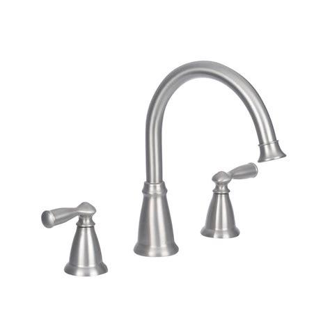 moen banbury 2 handle deck mount high arc roman tub faucet