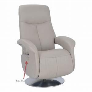 fauteuil cuir munich relaxation electrique espace du sommeil With fauteuil electrique cuir center