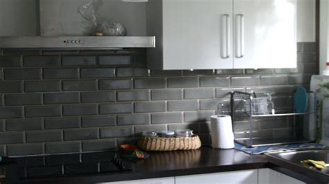 carrelage mural cuisine gris anthracite carrelage de maison