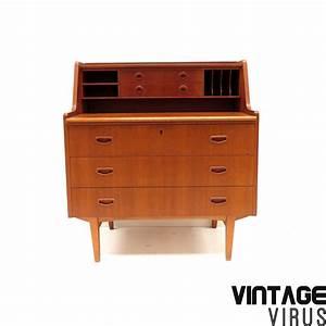 Bureau Secretaire Vintage : vintage deens design secretaire bureau dressoirkast ~ Teatrodelosmanantiales.com Idées de Décoration