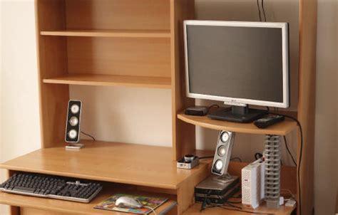 bureau meuble ordinateur angle clasf