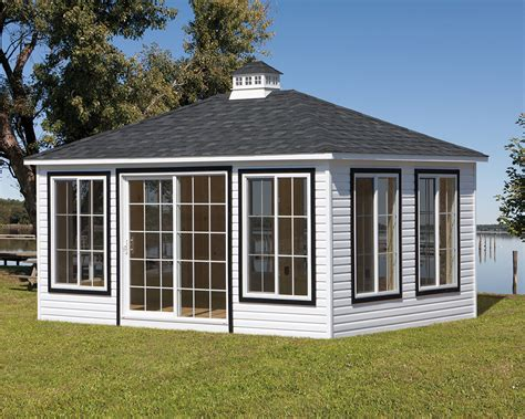 Detached Sunroom by Vinyl Rectangular Sunrooms 187 Green Acres Outdoor Living