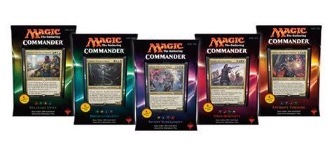 premade commander decks 2016 commander 2016 deck set of five sealed product