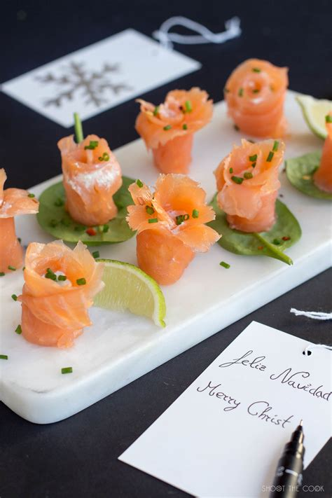 beautiful canapes recipes smoked salmon flower canapés shoot the cook food