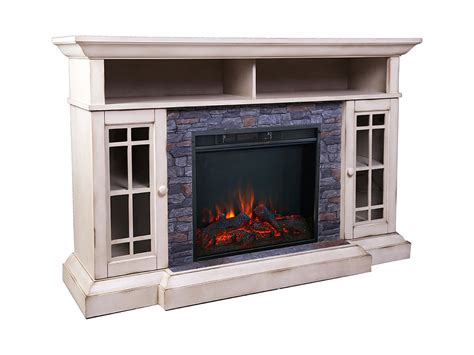 Bennett Infrared Electric Fireplace Tv Stand In Farmhouse