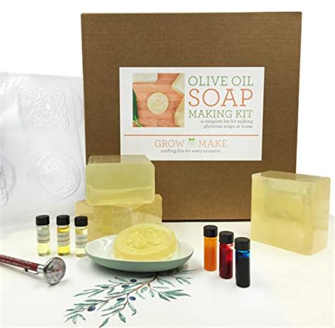 grow   deluxe diy olive oil soap making kit learn