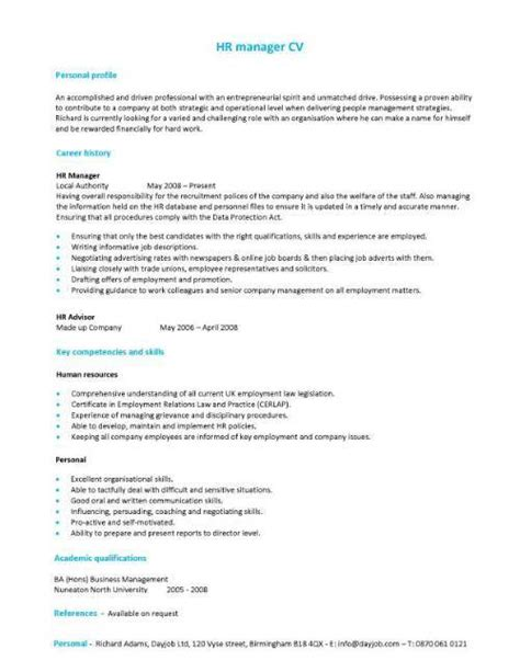 cv templates for year 10 work experience sle