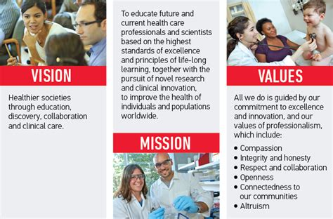rooted   vision mission values faculty