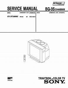 Sony Kv-xf29m65 Service Manual