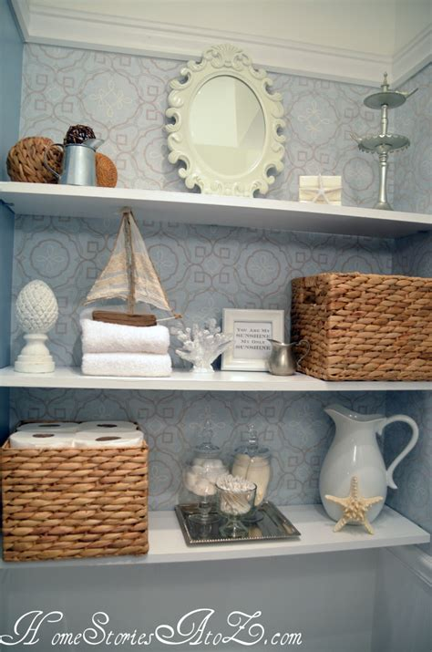 Decorating Ideas For A Bathroom Shelf by How To Decorate Shelves