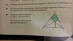 Höhenschnittpunkt Berechnen : teilviereck aus dreieck mithilfe von sinus cosinus ausrechnen mathelounge ~ Themetempest.com Abrechnung