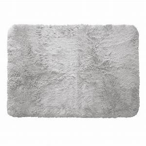 Tapis Fourrure Gris : tapis rectangulaire 170 cm marmotte gris clair tapis de chambre salon eminza ~ Teatrodelosmanantiales.com Idées de Décoration